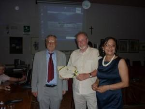Sindaco di Spinea, Assessore all'istruzione L. Mainardi e il Prof. Argano